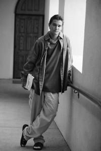 Student Standing in Corridor