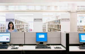 computer in library