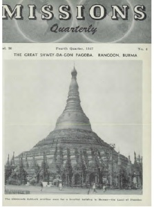 Cover of  the SDA Mission Quarterly from  4th quarter, 1947