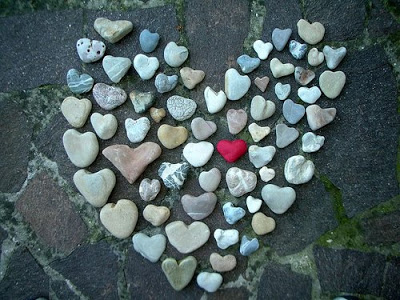 heart shaped rocks